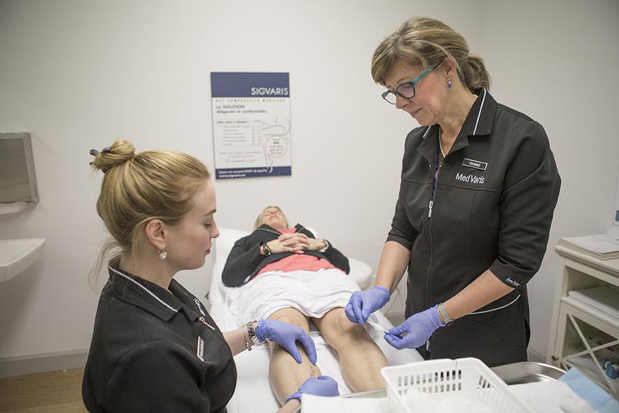 Traitement par injection (sclérothérapie) chez MedVaris